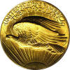 1907 Ultra High Relief Saint Gaudens Double Eagle Reverse